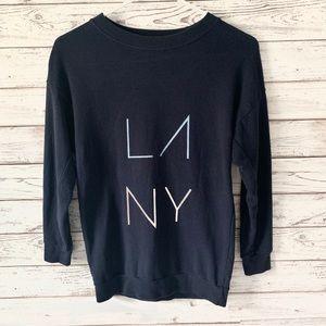 Rebecca Minkoff LA NY Navy Blue Sweatshirt Small
